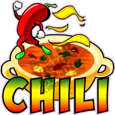 14  Chili Soup Stew Concession Trailer Food Truck Menu Sign Decal