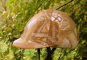 helmet-cover-beige-brown-w-silver-accents-SMALL-MED