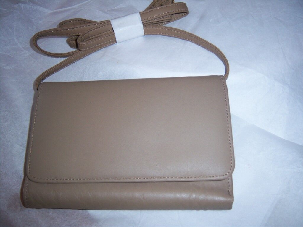 Rolfs Seattle Genuine Leather Wallet On A String,taupe