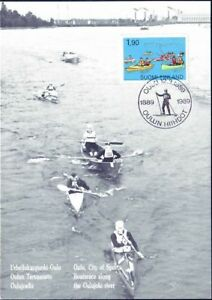 Canoeing-Canoes-Finland-Maxi-Card-FDC-1989