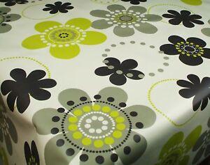 Wipe-Clean-Tablecloth-Oilcloth-Vinyl-PVC-Lime-Blk-Retro