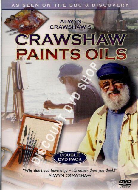ALWYN CRAWSHAW'S PAINTS OILS. DOUBLE DVD PACK. NEW ITEM