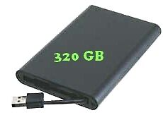 External Hard Drive 2.5 320gb Slim Pocket Portable Usb