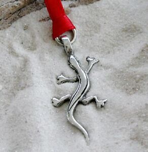 LIZARD-GECKO-Silver-Pewter-Christmas-ORNAMENT-Holiday