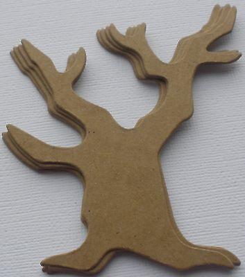 {3} *BARE SPOOKY TREE*  Bare Halloween Chipboard Die Cuts 3 1/2