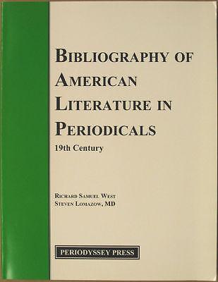 Bibliography Of American Literature In Periodicals