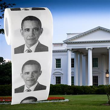BARACK OBAMA TOILET PAPER ROLL - JOKE - POLITCAL - PRANK GAG on Rummage