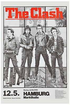 PUNK: London Calling: The Clash at  * Hamburg  *  Germany Concert Poster 1980