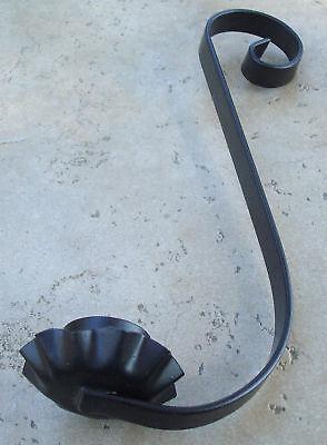 Vintage Hg Mason Jar Classic Scrolled Candle Holder Blk