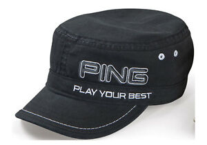 PING-MENS-RANGER-GOLF-HAT-CAP-2011-BLACK-NEW-WITH-TAGS