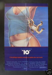 10 TEN 1SH ORIGINAL MOVIE POSTER COMEDY '79 BO DEREK