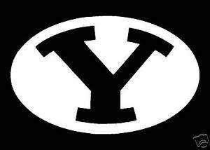 Byu Football Y Helmet Logo White Vinyl Decal 4 Quot X 6 Quot Ebay