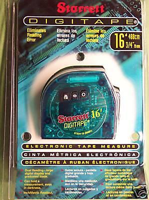 Starrett 16' Clear Digitape Digital Tape Measure