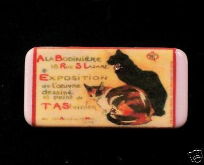 Classic Poster Art Cats - Domino Pin