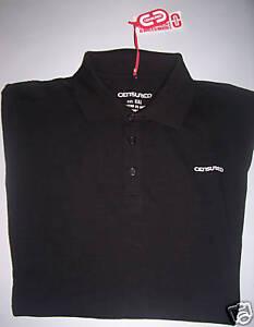 T-Shirt-M-corta-CENSURED-Maglia-Polo-Nero-elasticizzata