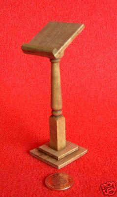 Dolls House Miniature Wooden Lectern