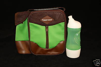 Tupperware Insulated Lunch Bag Sports Bottle Green