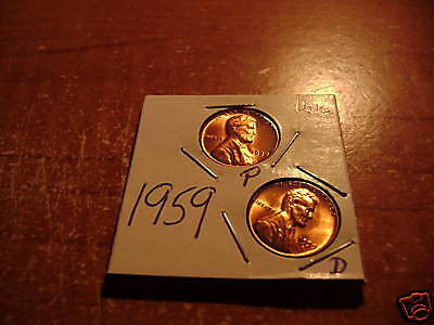1959P&D  LINCOLN MEMORIAL CENT- UNCIRCULATED