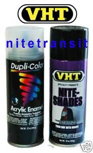 Vht Nite Shades Taillight Tint Black With Clear Coat Vht