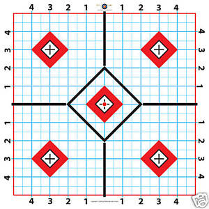 100-Yard-Rifle-Paper-Target-Great-for-Sighting-in-Scope-11-5-100-shts-free-ship