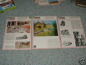 Preiser-HO-Landscape-items-1970s-Lot-8