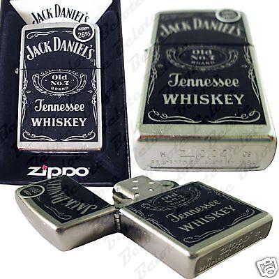 Zippo Jack Daniel's Label Brushed Chrome Lighter 24779