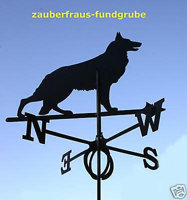 Streng Wetterfahne Großer Wolf Hund Gh.91cm Wetterhahn Windfahne Versandkosten Frei Brd