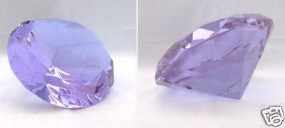 Glasdiamanten Dekodiamant aus Kristallglas120mm lila