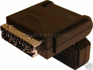 Hinged 90 Degree Scart Adaptor Adapter Right Angled