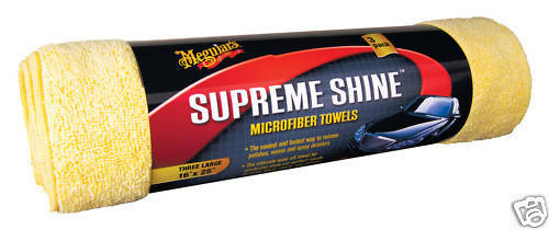 Meguiars Supreme Shine Microfibre towels 3-Pack Cloths NEW, ULTIMATE Stockist