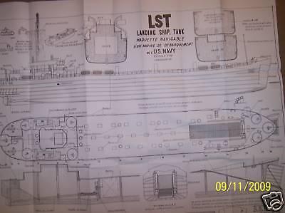 L S T ship boat model boat plans