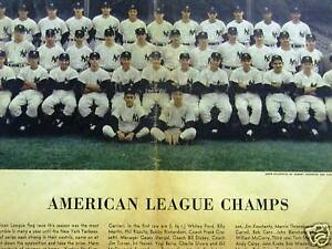 1955-AMERICAN-LEAGUE-CHAMPS-YANKEES-NEWS-Print-Matted