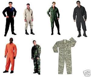 US-Air-Force-Style-Combinaison-de-vol-coton-toutes-tailles
