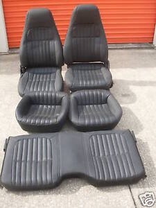 82 93 97 98 02 Camaro Ebony Leather Power Seats New 92 95