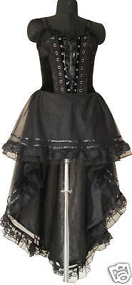 corset dress gothic black prom halloween custom made us