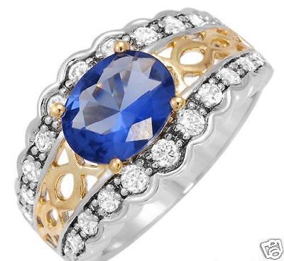 Charles Winston 14k/9.25 Gold Ring Sz 6