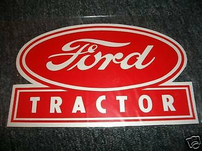 Ford Tractor 8 Inch Decal - Red Decal Sticker
