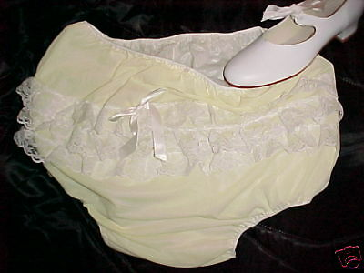 1 Adult Baby Dress Diapers Plastic Pants Incontinent Sissy Panties Water Proof