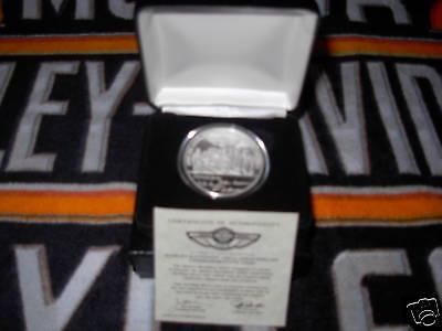 Harley 100th Anniversary Employee Silver Graphic Commemorative Coin W/case Rare