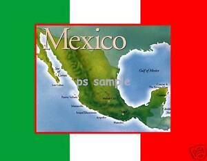 MEXICO-MAP-and-Flag-Background-Souvenir-Fridge-Magnet