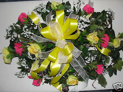 Silk Floral Shop 24/7 online Custom Colors Welcome Roses Cemetery Grave Pillow ()