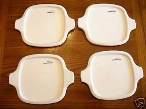 4-New-Corning-Ware-P-41-P-43-Petite-White-Storage-Lids