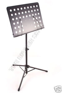 HEAVY DUTY MUSIC STAND HOLDER FOLDING NEW BIG PLATE