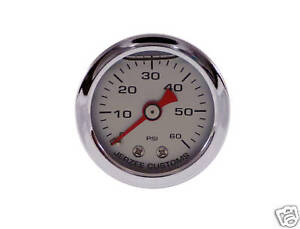 Liquid-Filled-Oil-Pressure-Gauge-0-60-psi-SILVER-face-Harley-Davidson