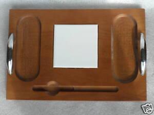 Baribocraft-Canada-Cheese-Serving-Board-Black-Diamond-Ad-Promo-Maple-Wood-c1970s