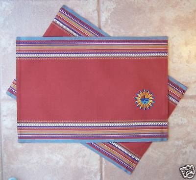 Sun Placemats Kay Dee Embroidered Sun Pattern