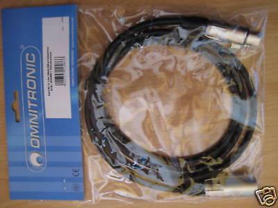 Omnitronic Xlr-kabel Mc-15 1,5m Xlr Male/female 3022045n