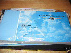 2009-CHRYSLER-SEBRING-OWNERS-MANUAL-OWNER-039-S-NEW-SEALED-SET