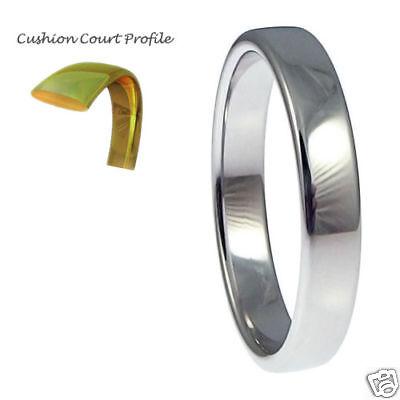 3mm 6.3g Cushion Court 950 Platinum Wedding Band H-k