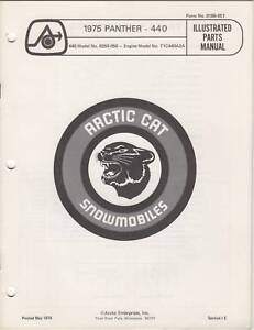 1975 ARCTIC CAT SNOWMOBILE PANTHER-440  PARTS MANUAL
